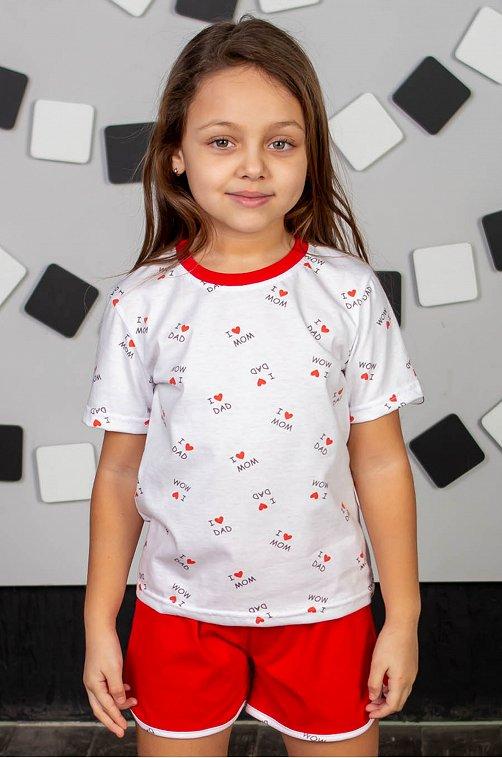 Пижама для девочки ДЕТСКИЙ ТРИКОТАЖ 37 6631431 мультиколор купить оптом в HappyWear.ru