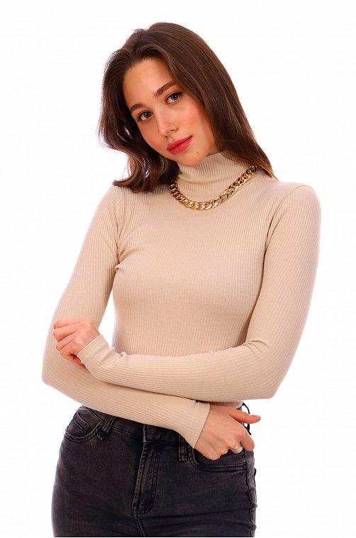 Водолазка женская из вискозы Элиза 6622850 бежевый купить оптом в HappyWear.ru