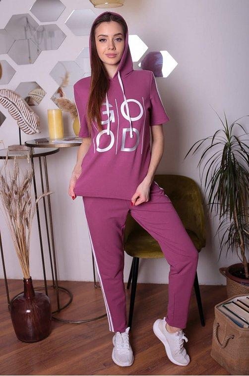 Женский спортивный костюм 6644120 фиолетовый купить оптом в HappyWear.ru