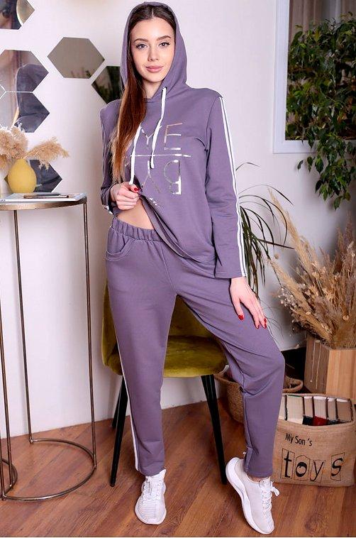 Женский спортивный костюм 6644128 серый купить оптом в HappyWear.ru