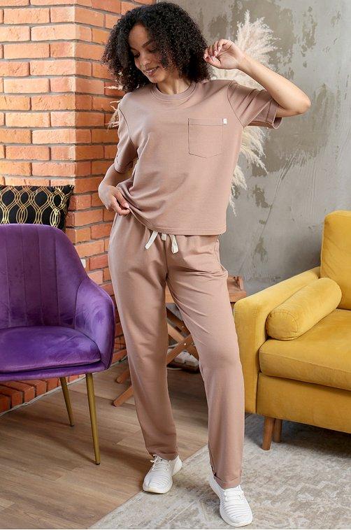 Женский костюм 6652459 бежевый купить оптом в HappyWear.ru
