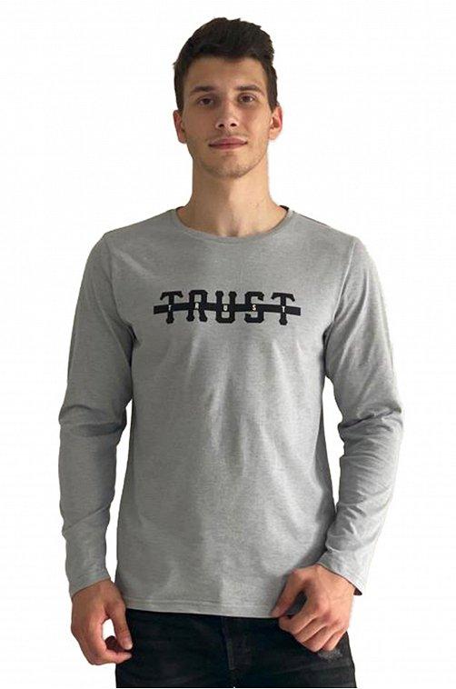 Лонгслив мужской Грация 6608347 серый купить оптом в HappyWear.ru