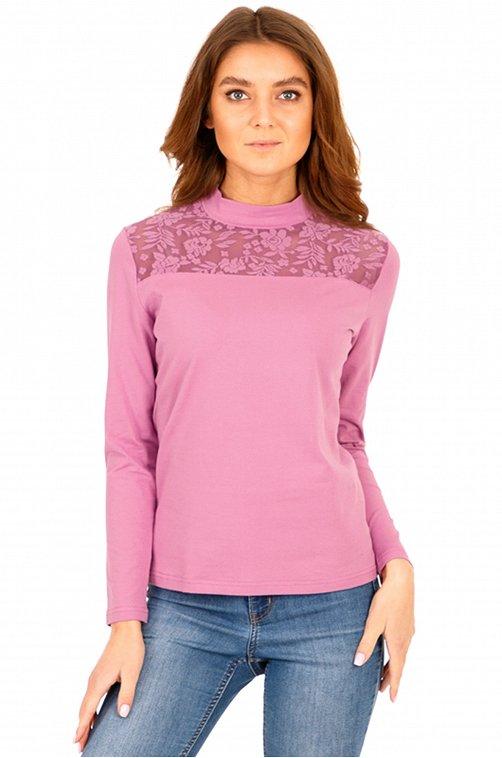 Водолазка женская Апрель 6604338 розовый купить оптом в HappyWear.ru