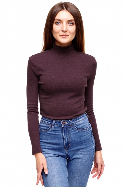 Водолазка женская Апрель 6616170 коричневый купить оптом в HappyWear.ru