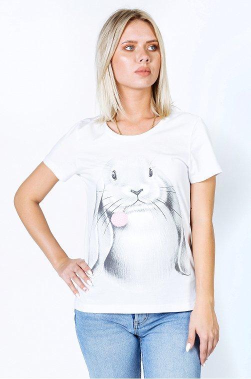 Футболка женская Happy Fox белый