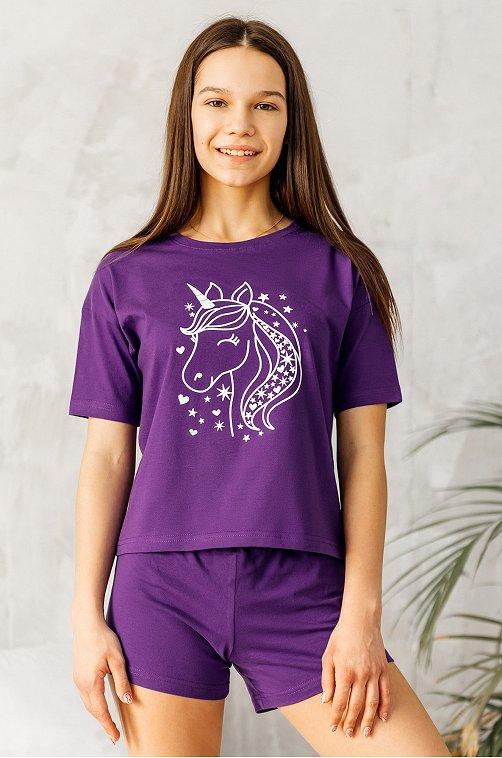 Пижама для девочки Happy Fox 6631056 мультиколор купить оптом в HappyWear.ru