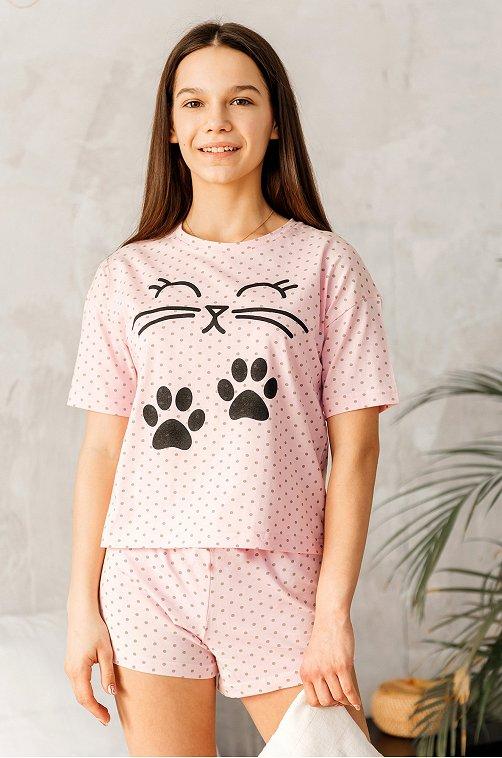 Пижама для девочки Happy Fox 6631055 мультиколор купить оптом в HappyWear.ru