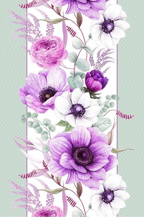 Дорожка на стол из рогожки Happy Fox Home виолет,фиолетовый