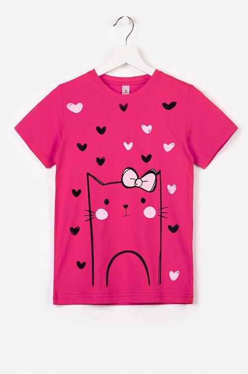 Футболка для девочки Happy Fox 6614456 розовый купить оптом в HappyWear.ru