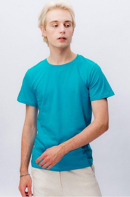 Хлопковая мужская футболка Happy Fox бирюза