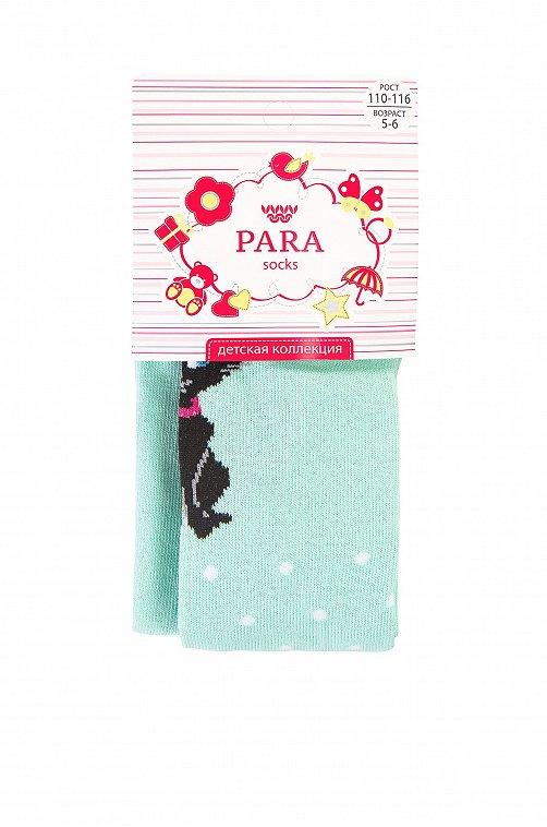 Колготки для девочки Para socks кошка,мятный