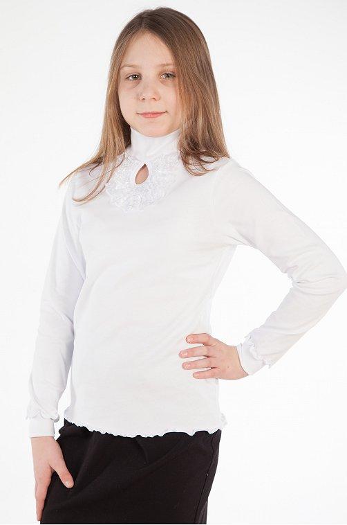 Водолазка для девочки Кактус 6626458 белый купить оптом в HappyWear.ru