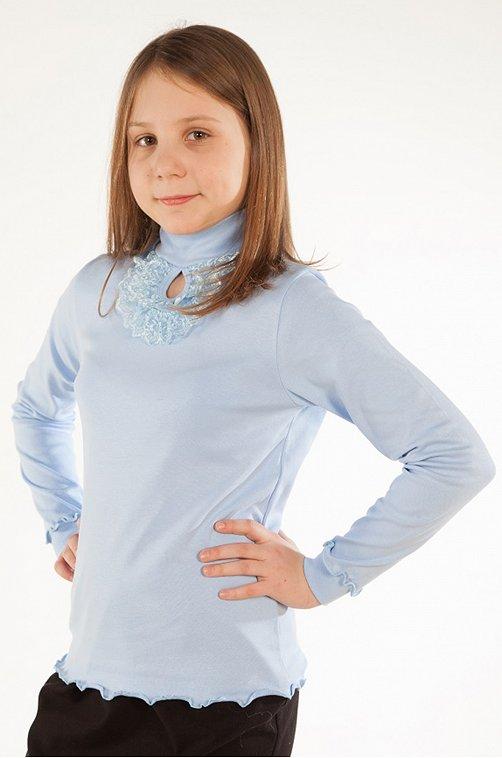 Водолазка для девочки Кактус 6626459 голубой купить оптом в HappyWear.ru