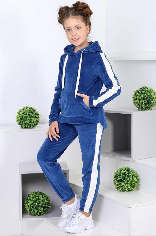 Утепленный костюм для девочки Детский Бум 6613840 синий купить оптом в HappyWear.ru