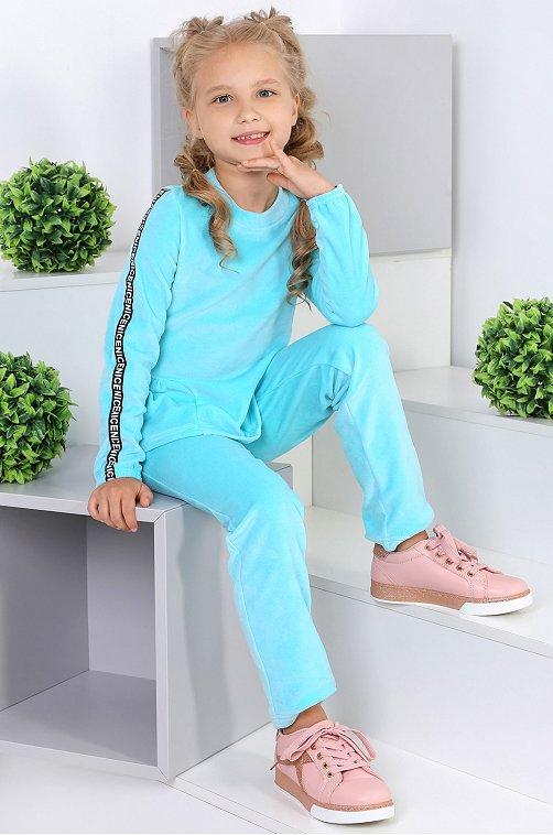 Утепленный костюм для девочки Детский Бум 6613841 голубой купить оптом в HappyWear.ru