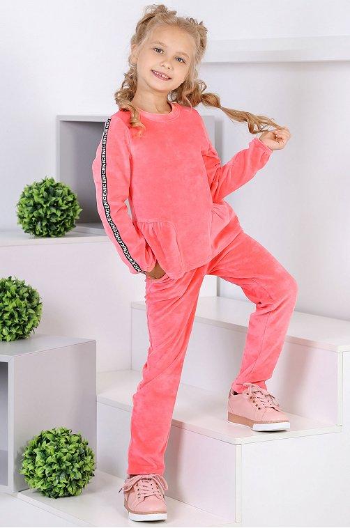 Утепленный костюм для девочки Детский Бум 6613842 розовый купить оптом в HappyWear.ru