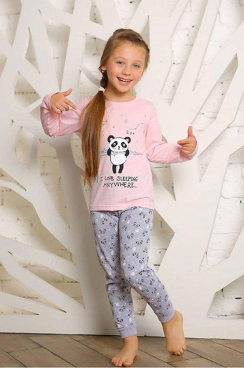 Пижама для девочки KOTTONI 6631441 розовый купить оптом в HappyWear.ru