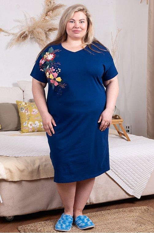 Женское платье синего цвета 6648131 синий купить оптом в HappyWear.ru