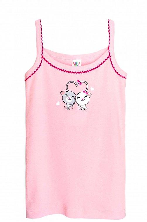 Майка для девочки Lets Go розовый