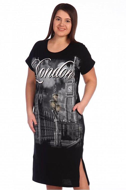 Платье женское lovetex.store 6629851 черный купить оптом в HappyWear.ru