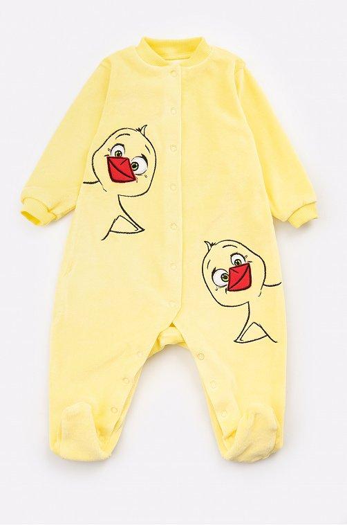 Комбинезон для девочки Luneva 6631064 желтый купить оптом в HappyWear.ru