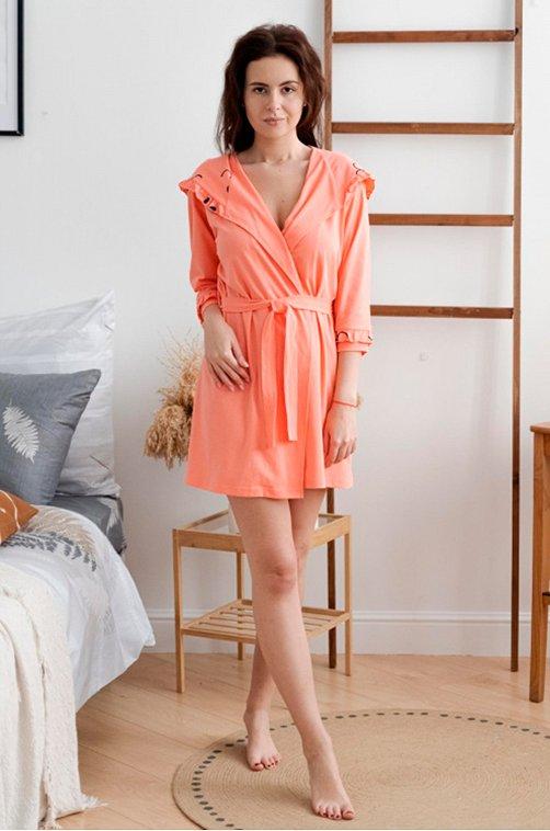 Халат женский ModaRu 6625447 розовый купить оптом в HappyWear.ru
