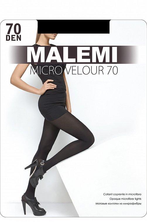 Матовые женские колготки из микрофибры, 70 DEN 6569923 черный купить оптом в HappyWear.ru