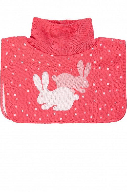 Манишка для девочки Мегашапка 6608464 розовый купить оптом в HappyWear.ru