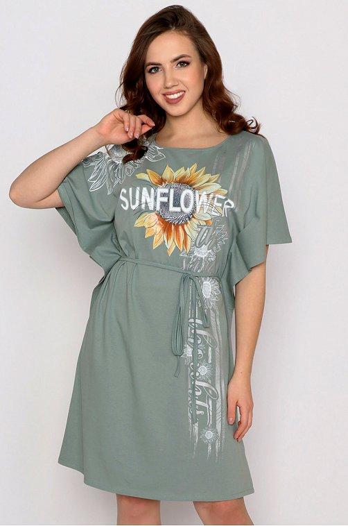 Платье женское Margo 6632991 зеленый купить оптом в HappyWear.ru