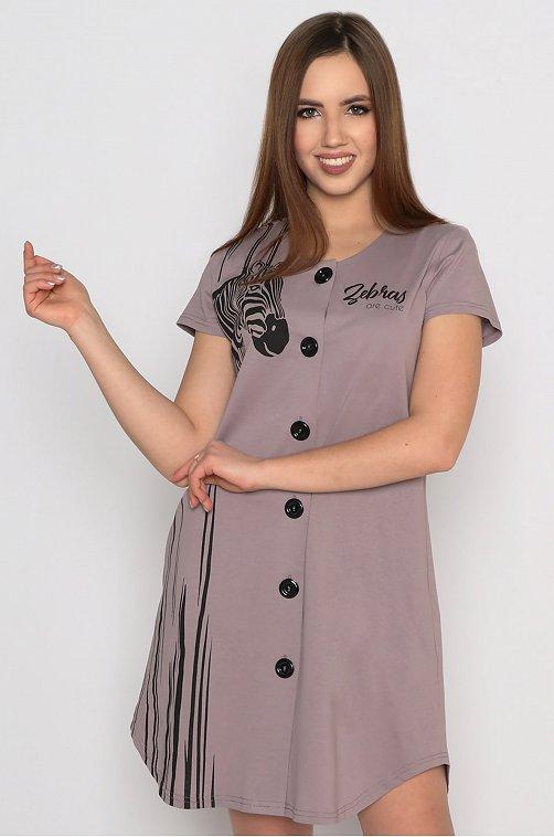 Халат женский Margo 6627697 коричневый купить оптом в HappyWear.ru