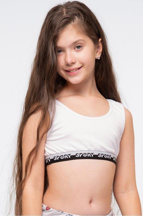 Майка-топ для девочки Nicoletta белый