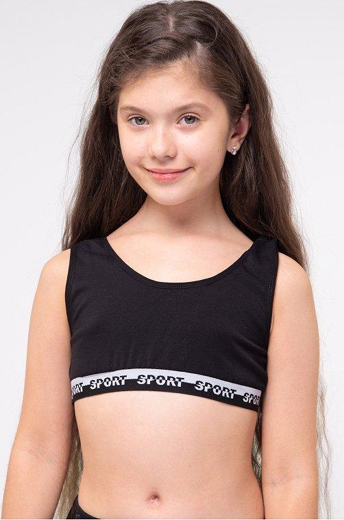 Майка-топ для девочки Nicoletta черный