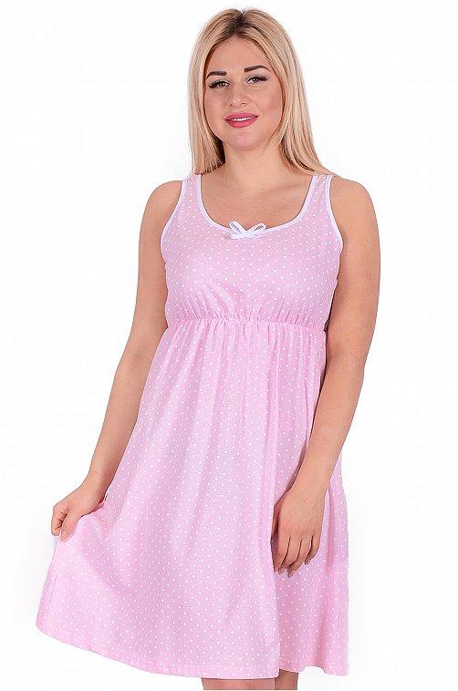 Сорочка женская Неженка 6559668 розовый купить оптом в HappyWear.ru