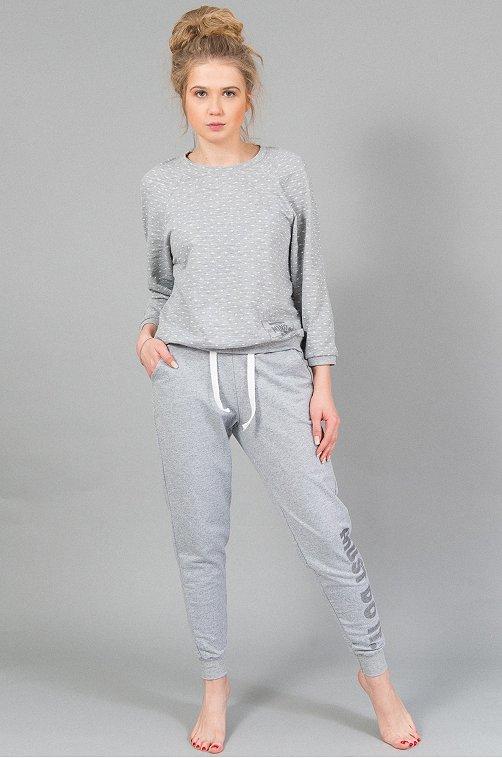 Женский костюм 6657740 серый купить оптом в HappyWear.ru