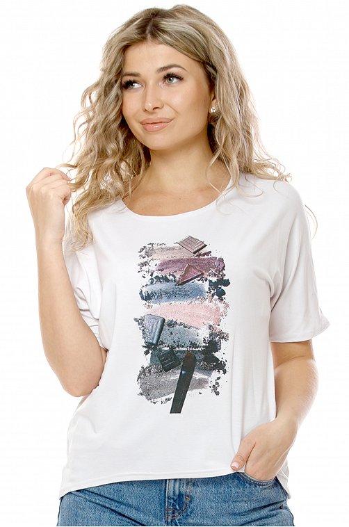 Женская футболка 6648142 белый купить оптом в HappyWear.ru