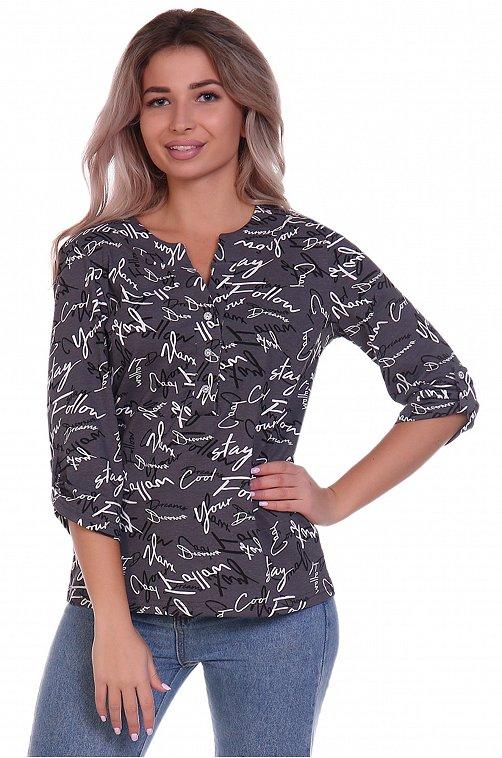 Блузка женская NSD стиль 6614437 серый купить оптом в HappyWear.ru