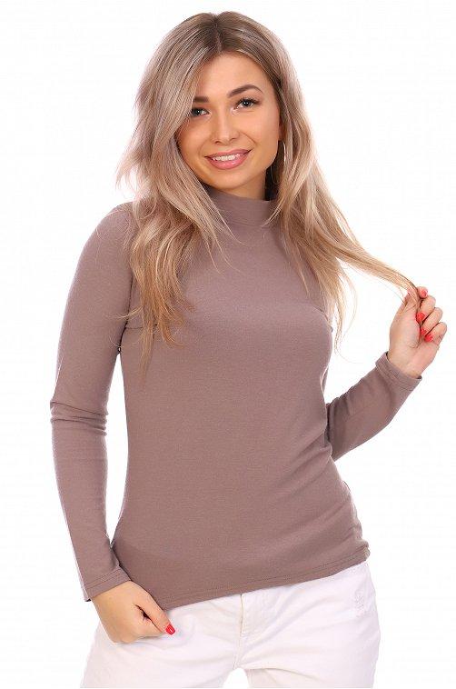 Водолазка женская NSD стиль 6617515 коричневый купить оптом в HappyWear.ru
