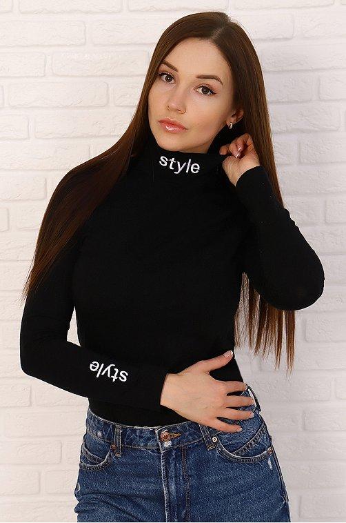 Водолазка женская Натали 6624754 черный купить оптом в HappyWear.ru