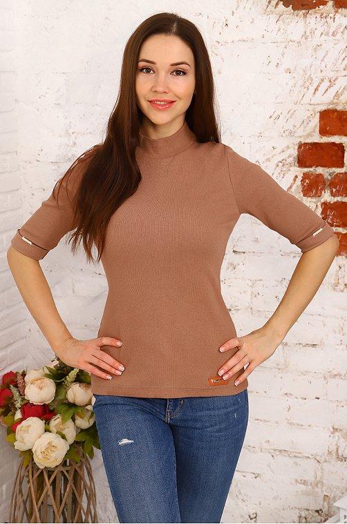Водолазка женская Натали 6625500 коричневый купить оптом в HappyWear.ru
