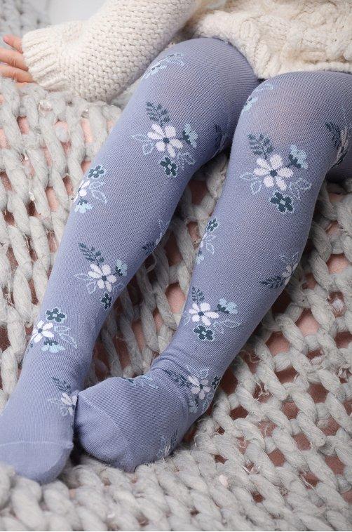 Колготки для девочки Berchelli 6636034 синий купить оптом в HappyWear.ru