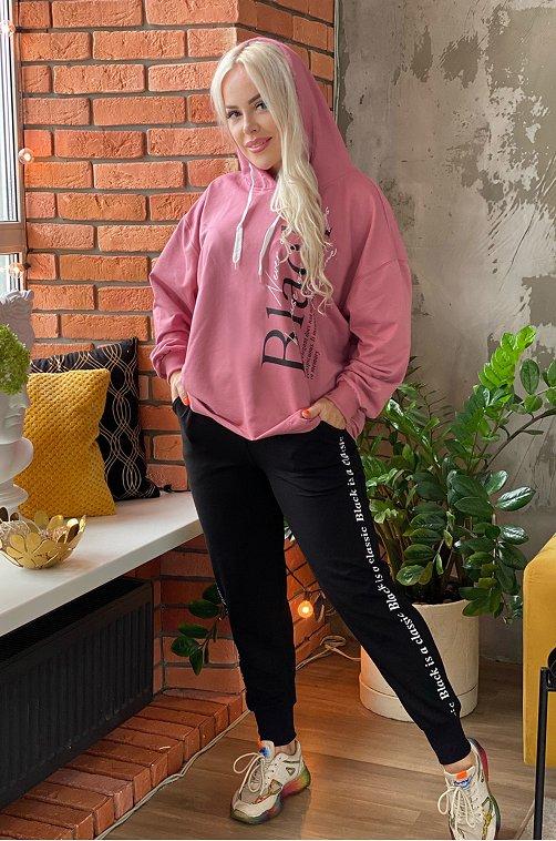 Женский костюм с леттерингом 6659369 мультиколор купить оптом в HappyWear.ru