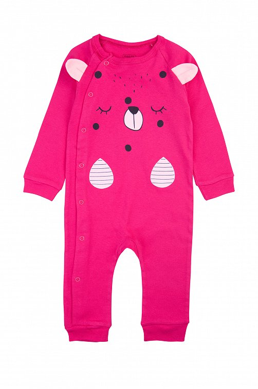 Комбинезон для девочки Bonito 6613454 розовый купить оптом в HappyWear.ru