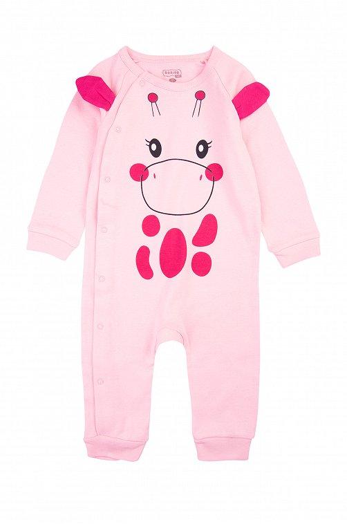 Комбинезон для девочки Bonito 6613456 розовый купить оптом в HappyWear.ru
