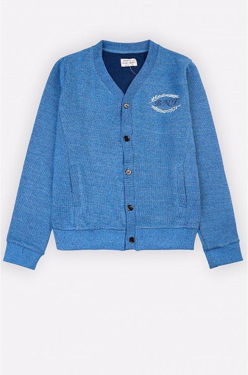 Жакет для мальчика Bonito 6624020 голубой купить оптом в HappyWear.ru