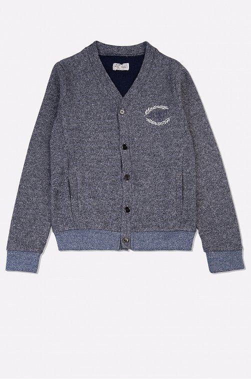 Жакет для мальчика Bonito 6624021 серый купить оптом в HappyWear.ru