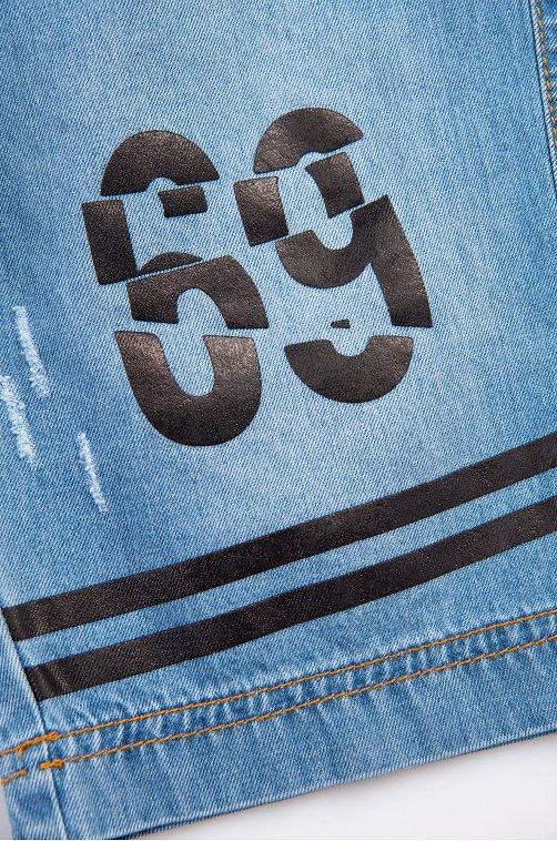 Джинсовые шорты для мальчика Bonito синий.красная.белая.чернильная.полоска