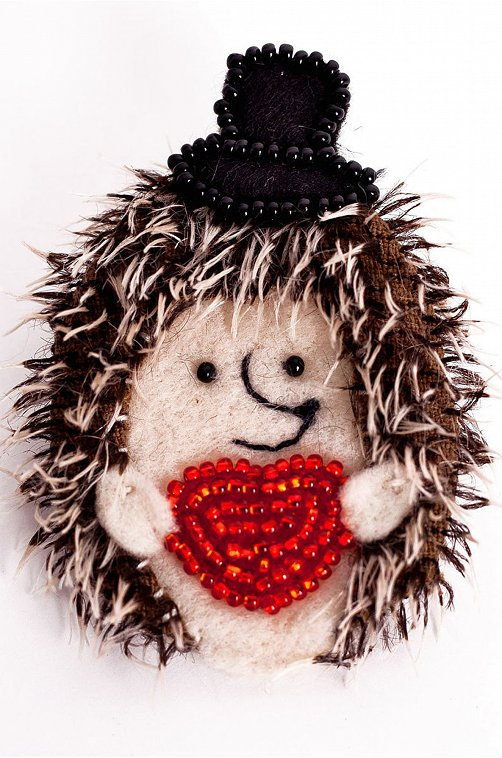 Набор для создания текстильной игрушки-брошки Кукла Перловка мультиколор