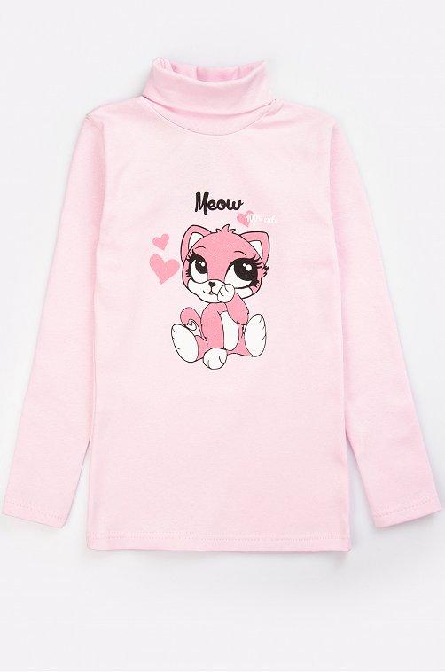 Водолазка для девочки Родители и Дети 6623278 розовый купить оптом в HappyWear.ru