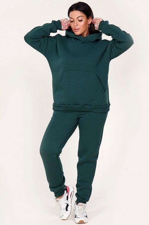 Женский трикотажный костюм 6656428 зеленый купить оптом в HappyWear.ru