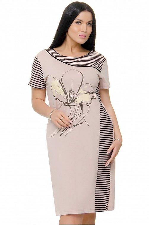 Женское платье 6646549 бежевый купить оптом в HappyWear.ru